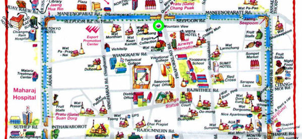 Tourist Map of Central Chiang Mai